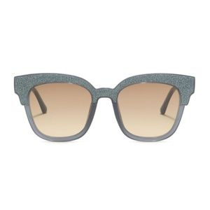 Jimmy Choo Mayela 50mm Glitter Square Sunglasses